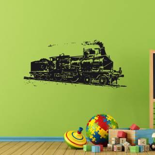 Wandtattoo Aufkleber Eisenbahn Dampflok Lokomotive