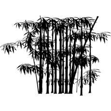 Wandtattoo Bambus Asien Blumen