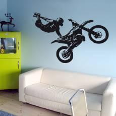 Wandtattoo Motocross - Nr.3 Superman Seatgrab
