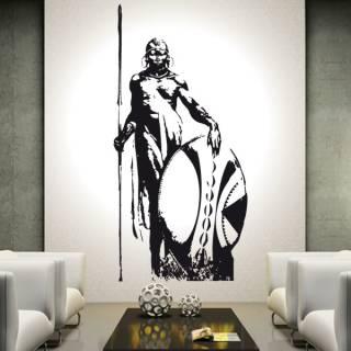 Wandtattoo Deko Massai Krieger Afrika