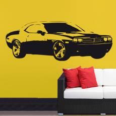 Wandtattoo Dodge Challenger Auto PS