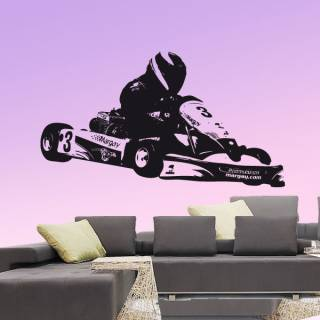 Wandtattoo Go Kart Motorsport Nr.1