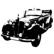 Wandtattoo Horch Oldtimer Motor
