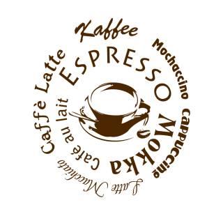 Wandtattoo Kaffee Tasse Cafe Lounge Aufkleber Küche #2