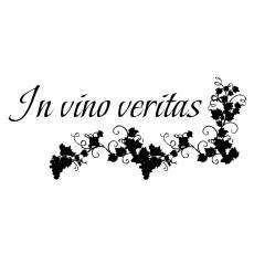 "Wandtattoo Küche ""In Vino Veritas"""