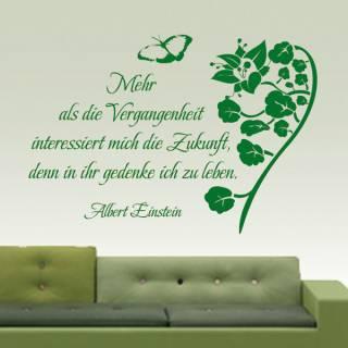 """Wandtattoo """"In der Zukunft leben"""" Einstein"""