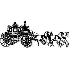 Wandtattoo Kutsche Nr.1 - Pferde