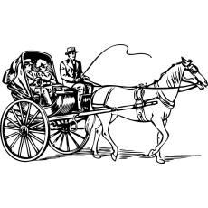 Wandtattoo Kutsche Nr.2 - Pferde