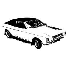 Wandtattoo Motiv Motor Ford Granada