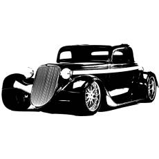 Wandtattoo Motiv Motor Hot Rod 33