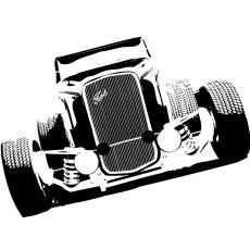 Wandtattoo Motiv Motor Hot Rod Ford Interceptor