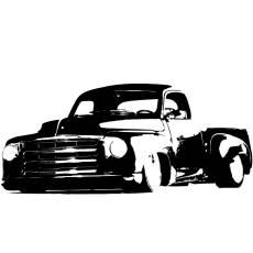 Wandtattoo Motiv Motor Hot Rod Pick Up