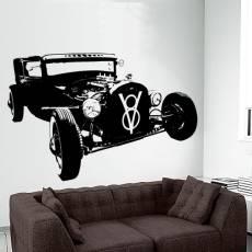 Wandtattoo Motiv Motor Hot Rod V8