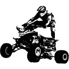 Wandtattoo Motocrosser Quad - Nr.1 Sprung