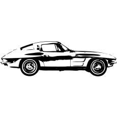 Wandtattoo Motor 1963 Corvette