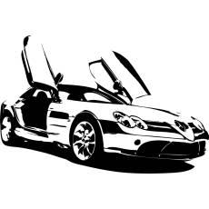 Wandtattoo Motor Auto Mercedes PS