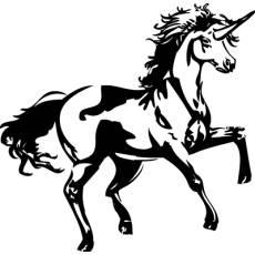 Wandtattoo Pferd Einhorn Kinderzimmer XXL