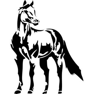 Wandtattoo Pferd Kinderzimmer Kind XXL #2
