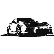 Wandtattoo Racing Porsche 911 GT2