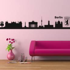 Wandtattoo Skyline Berlin Silhouette