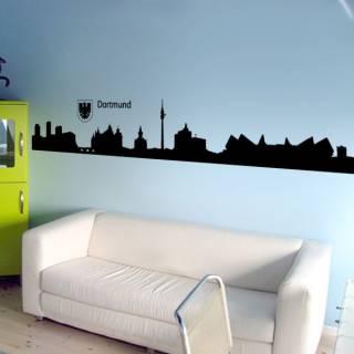 Wandtattoo Skyline Dortmund Silhouette