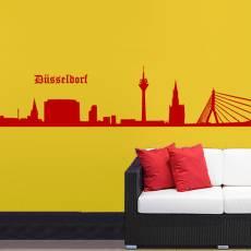Wandtattoo Skyline Düsseldorf Silhouette
