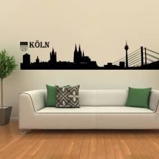 Wandtattoo Skyline Köln Silhouette