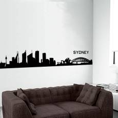 Wandtattoo Skyline Sydney Silhouette