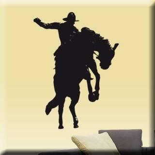 Wandtattoo Pferd Cowboy Western