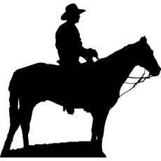 Wandtattoo Cowboy Reiten Pferd