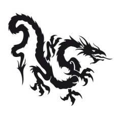 Wandtattoo Drachen - Nr.1