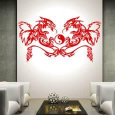 Wandtattoo Deko Tattoostil Dragons