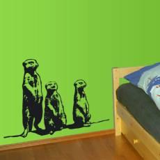 Wandtattoo Tiere Erdmännchen Kinderzimmer