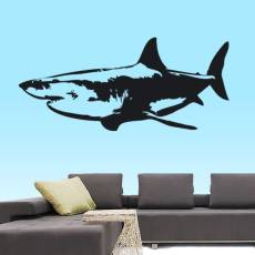 Wandtattoo Tiere Weisser Hai Meer