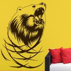 Wandtattoo Screaming Bear