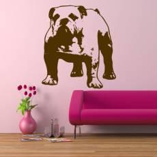 Wandtattoo Bulldoge
