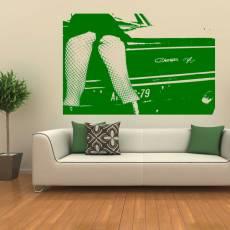 Wandtattoo Charger Woman sexy Erotik Auto