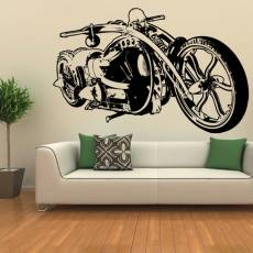 Wandtattoo Custom Chopper Black Widow #1