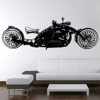 Wandtattoo Custom Chopper Black Widow #2