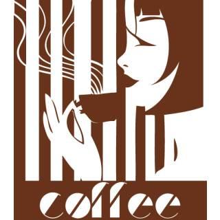 Wandtattoo Kaffee Bar Lounge Retro Küche #4