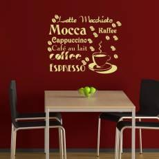 Wandtattoo Kaffee Bar Lounge Retro Küche #3