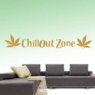 Wandtattoo Zitat Chillout Zone
