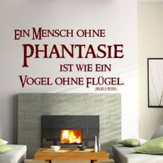 Wandtattoo Zitat Wilhelm Raabe Phantasie