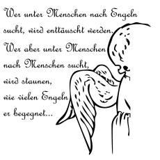 Wandtattoo Zitat - Nach Engeln suchen