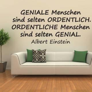 Wandtattoo Zitat Albert Einstein Geniale Menschen