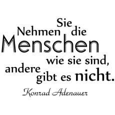 Wandtattoo Zitat Konrad Adenauer Menschen