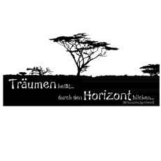 Wandtattoo Zitat - Träumen heißt Horizont