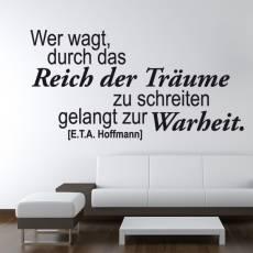 Wandtattoo Zitat Hoffmann Reich der Träume