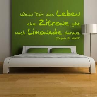 Wandtattoo Zitat Virginia Woolf Limonade aus Zitronen