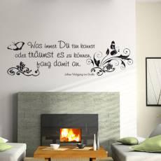 Wandtattoo Zitat Goethe  Ranken XXL